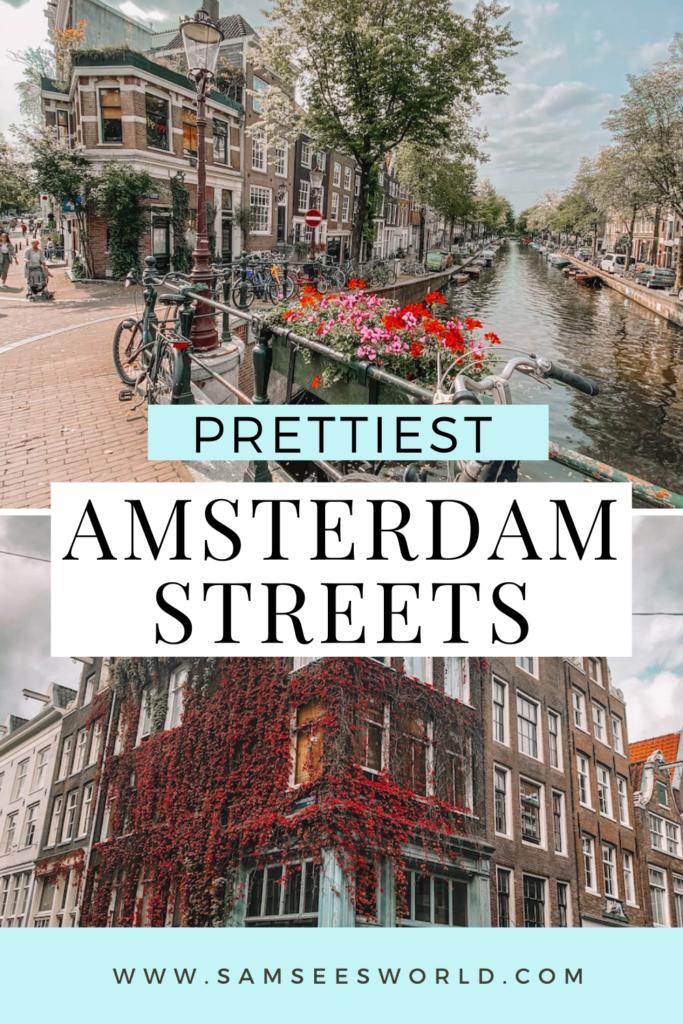 prettiest streets in Amsterdam pin