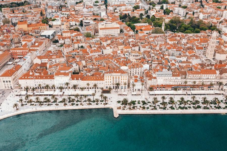Ariel view of Split