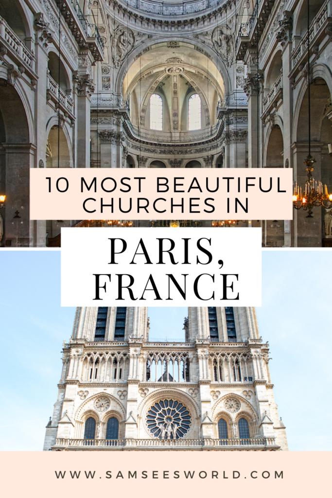 10 Most Beautiful Churches in Paris pin