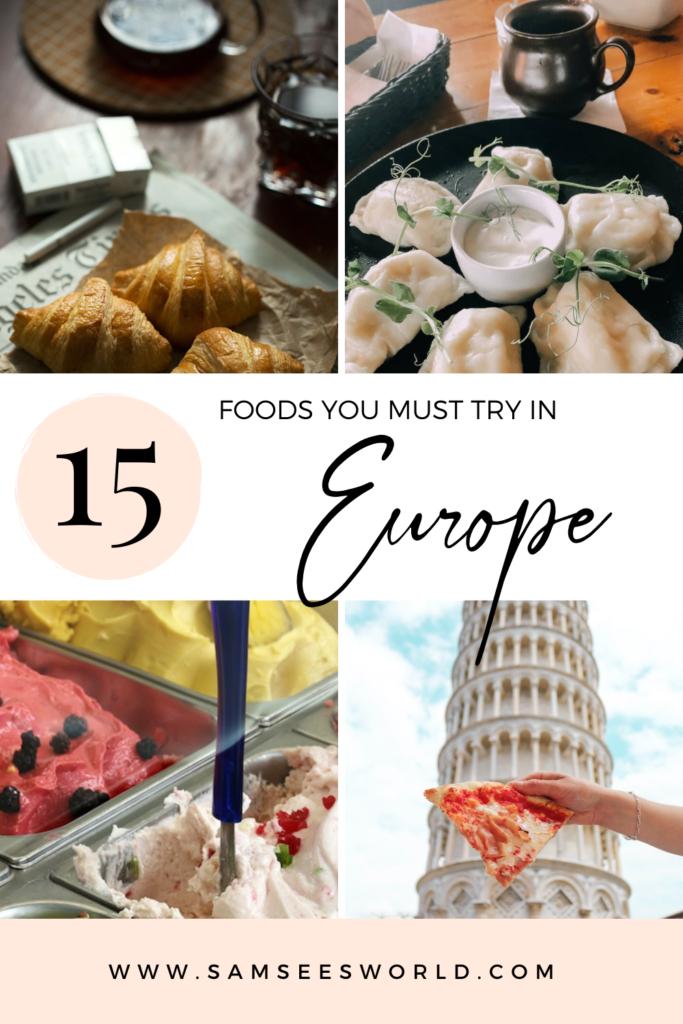 European food guide pin