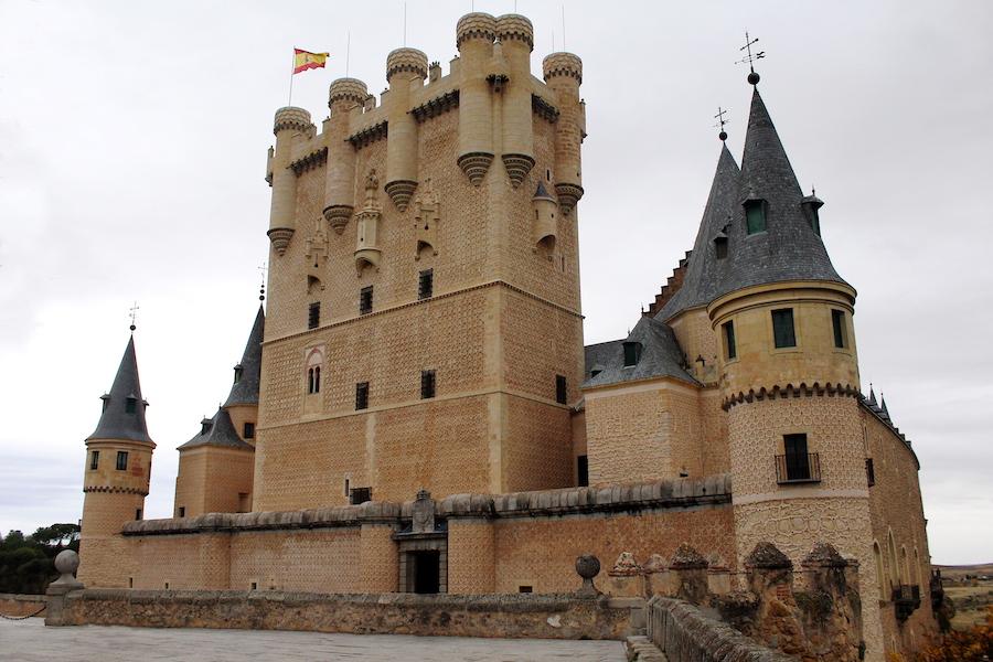 Huge yellow toned castle