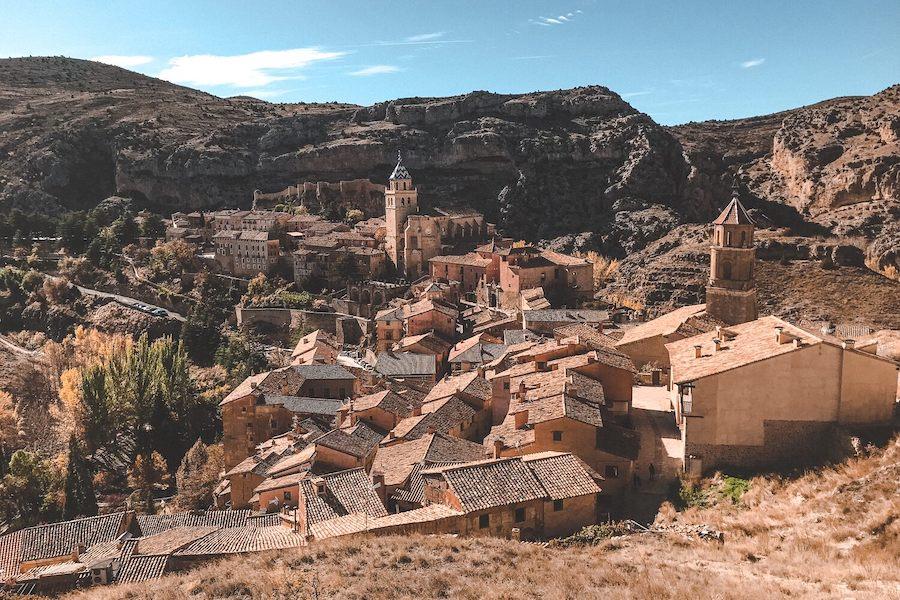 Village built into the moutains
