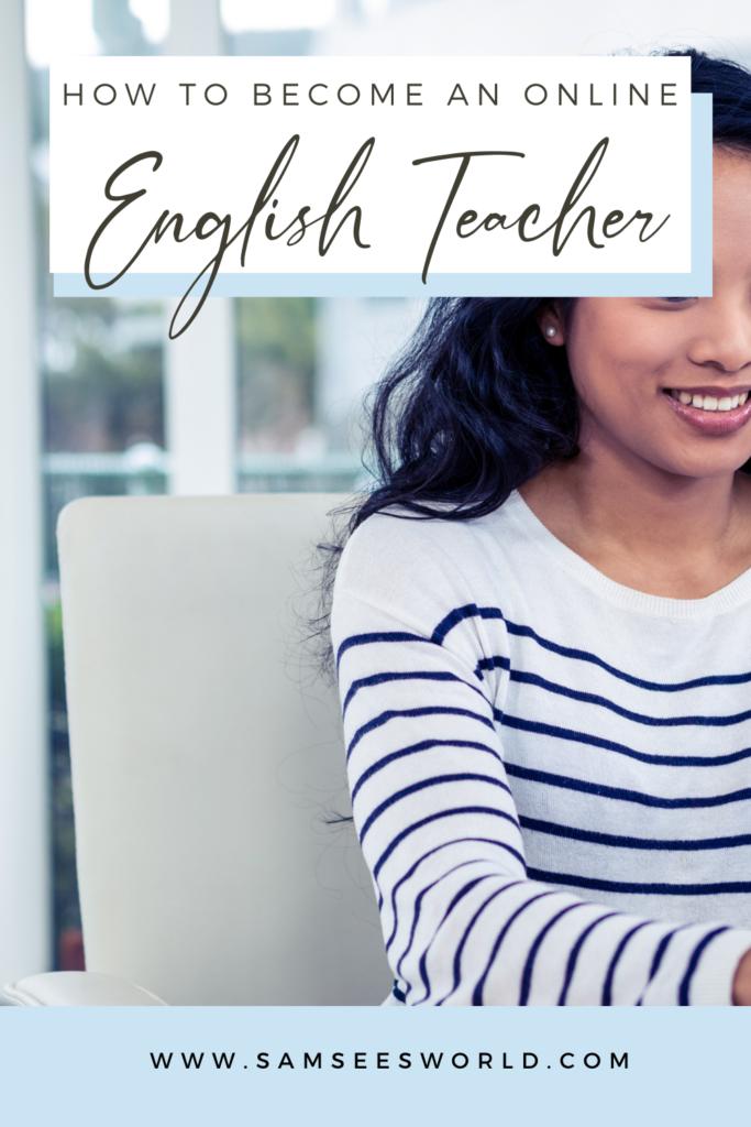 online English tutor pin