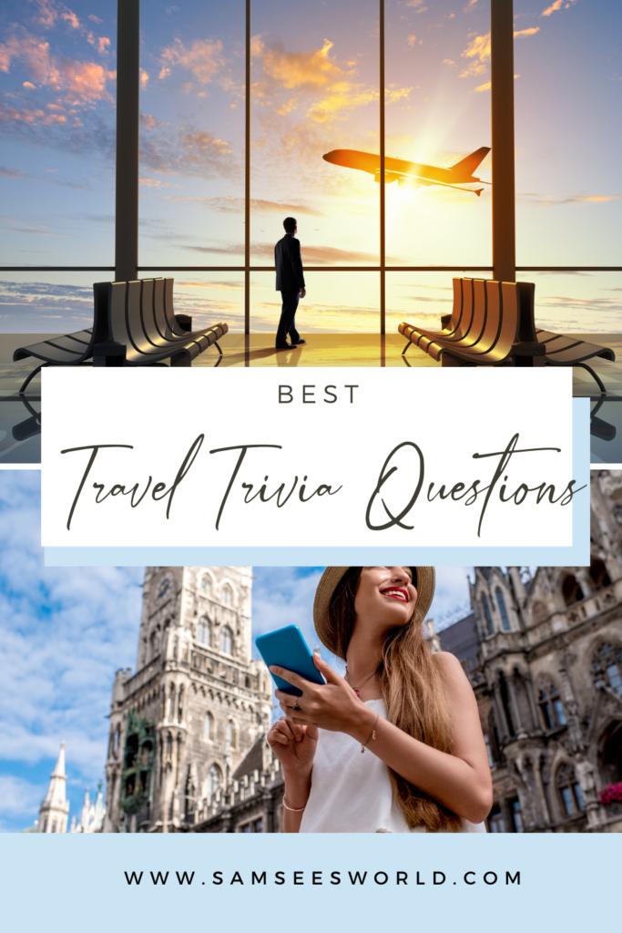 Travel Trivia  pin