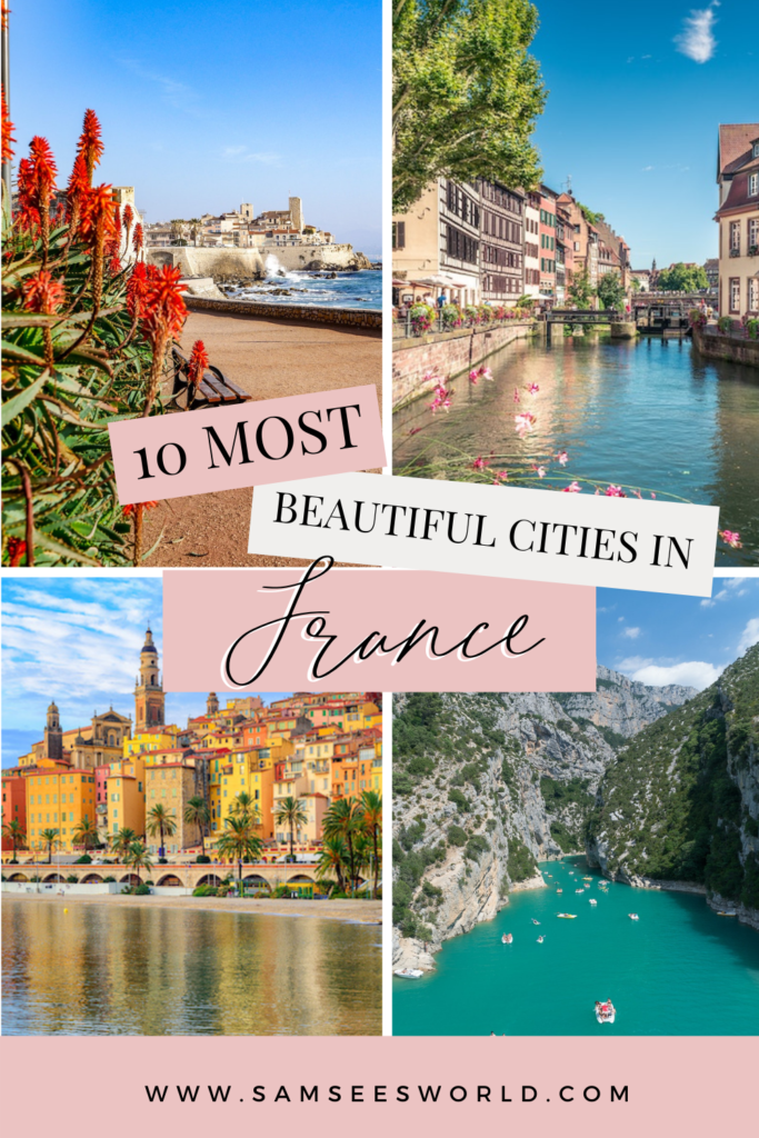 10 Most Beautiful cities in France pin