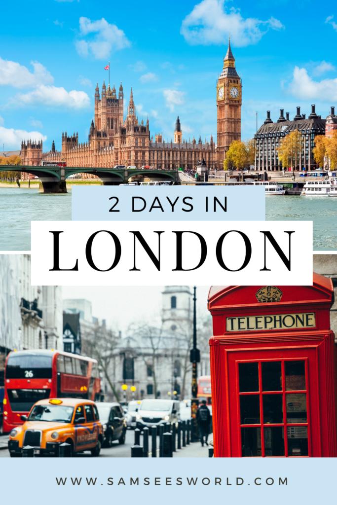 2 days in London pin