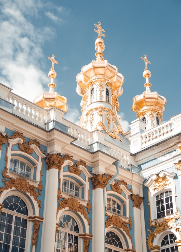Blue, white and gold palace