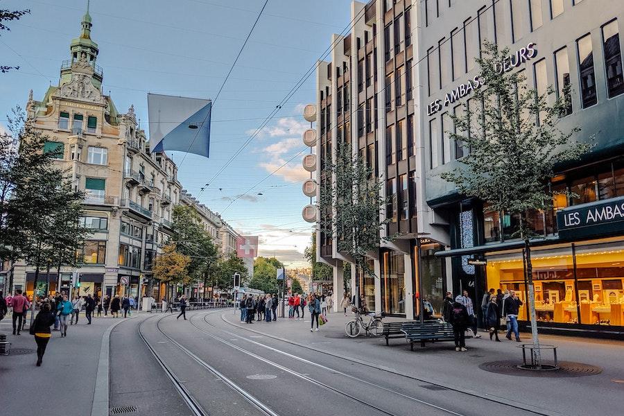 Street view of Bahnhofstrasse