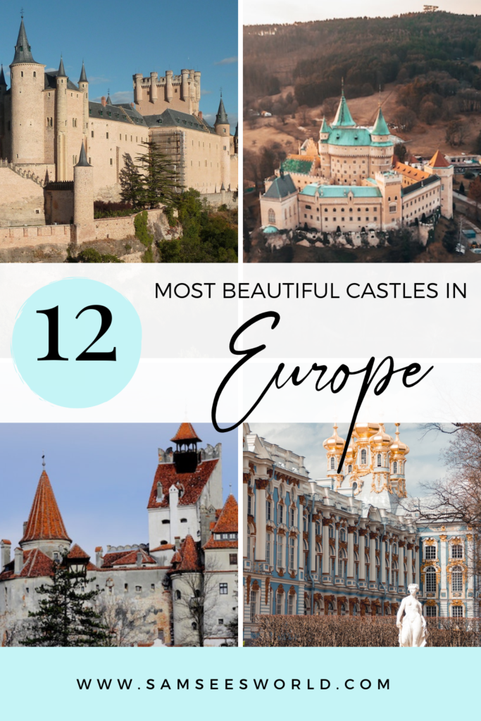 best castles in Europe pin