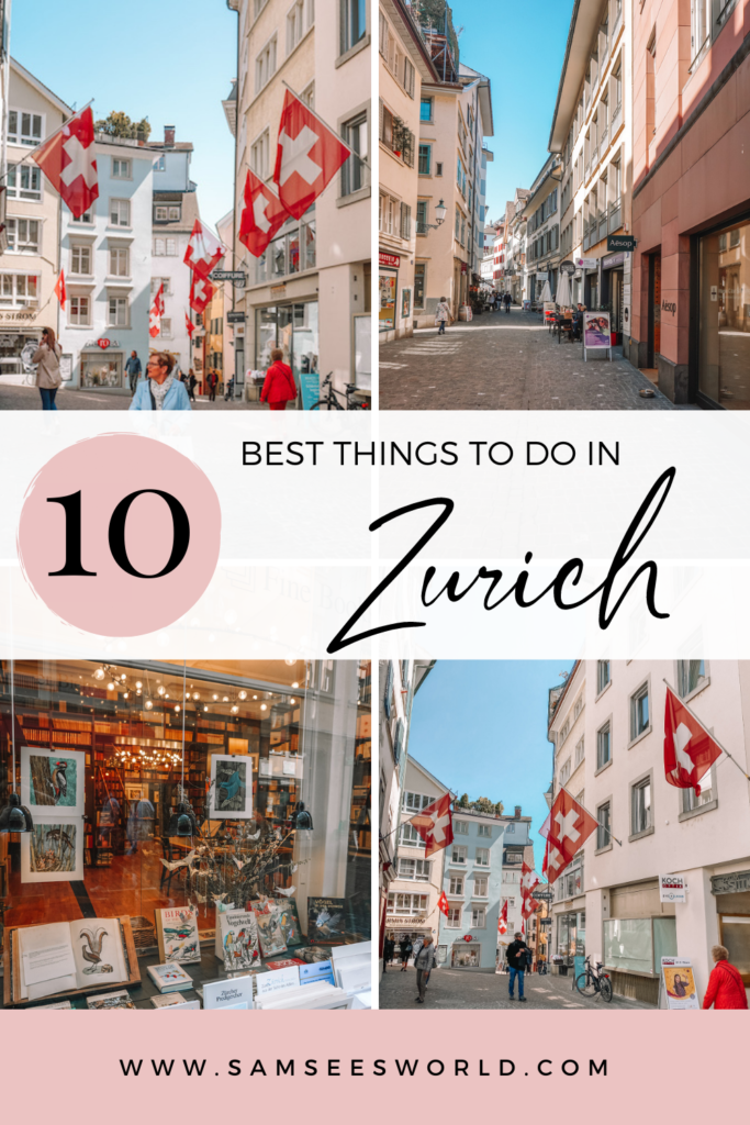 Best things to do in Zurich pin