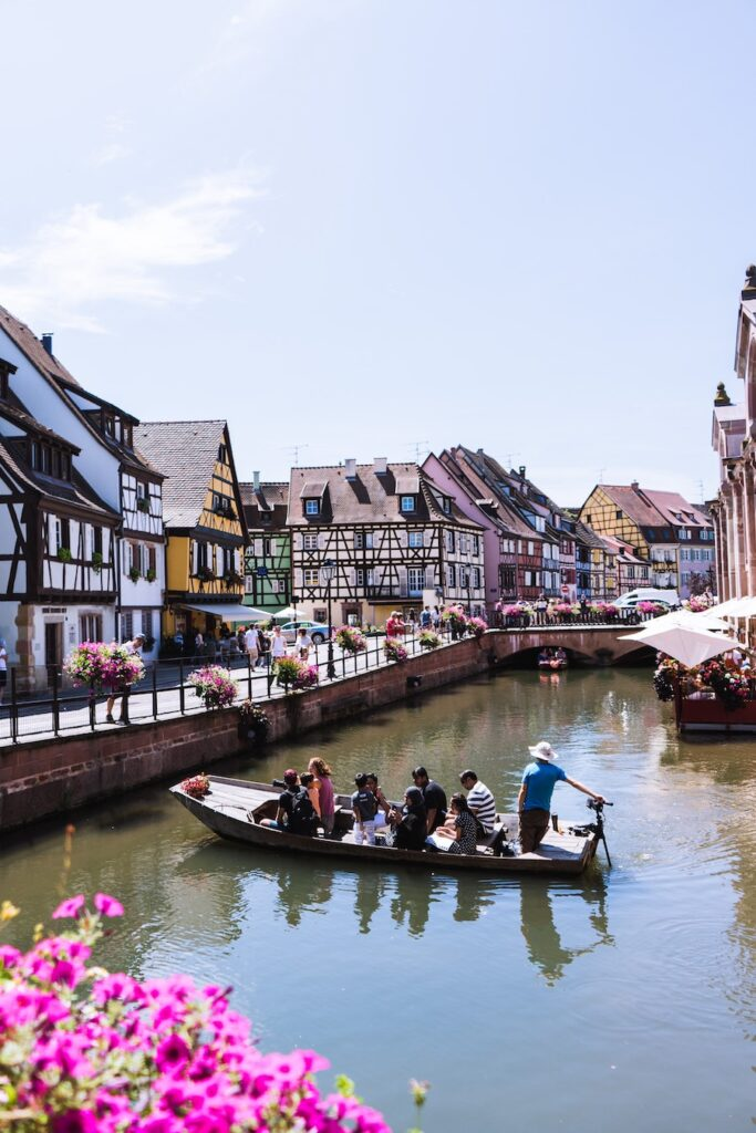 Boat on a canal in Colmar