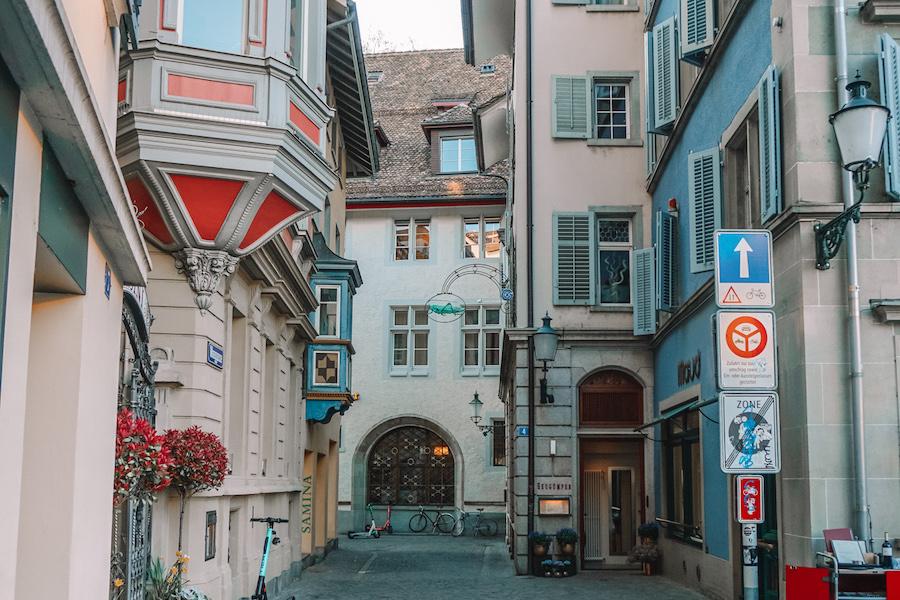Colourful Zurich Street