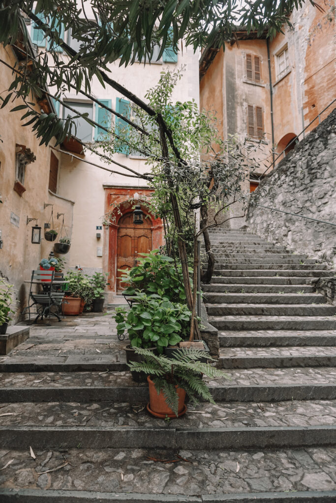 Stone staircase within the city streets