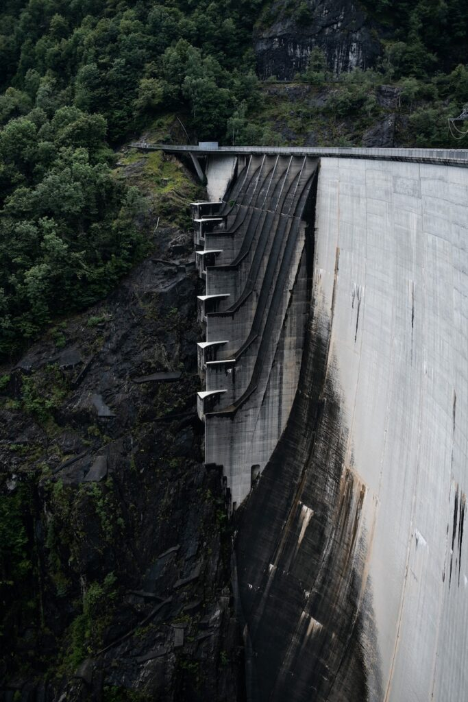 Stone dam in Switzerland