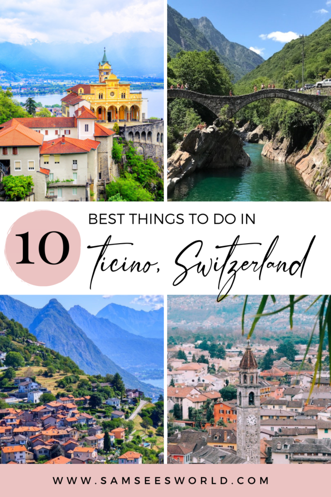 Top Things to do in Ticino, Switzerland pin