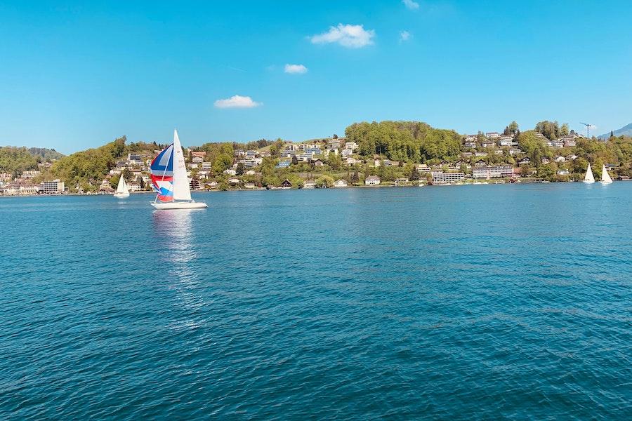 Boat on Lake Lucerne