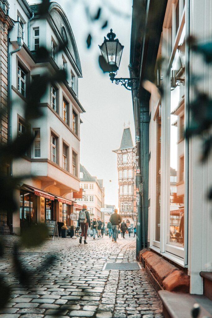 Cobblestone street in Germany