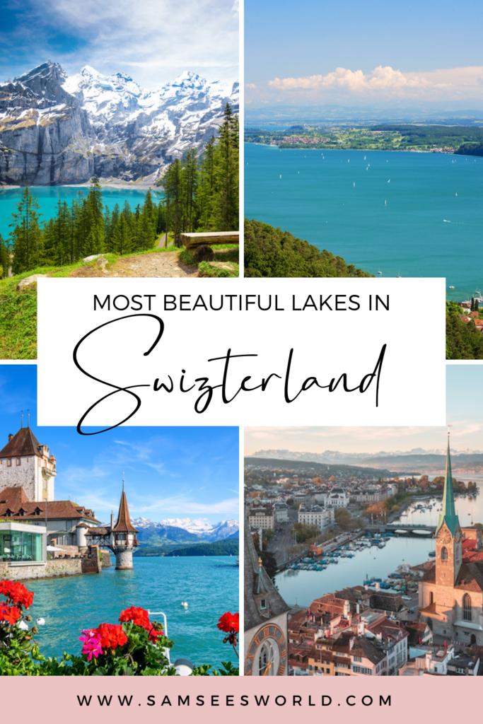 Most Beautiful Lakes of Switzerland pin
