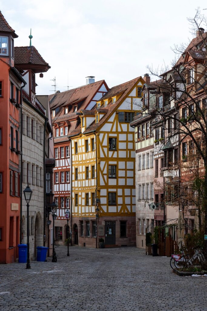 Colourful half timbered houses