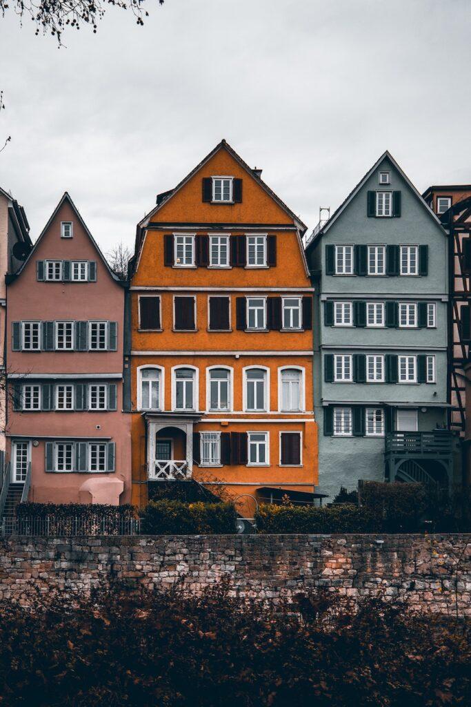 Half timbered houses