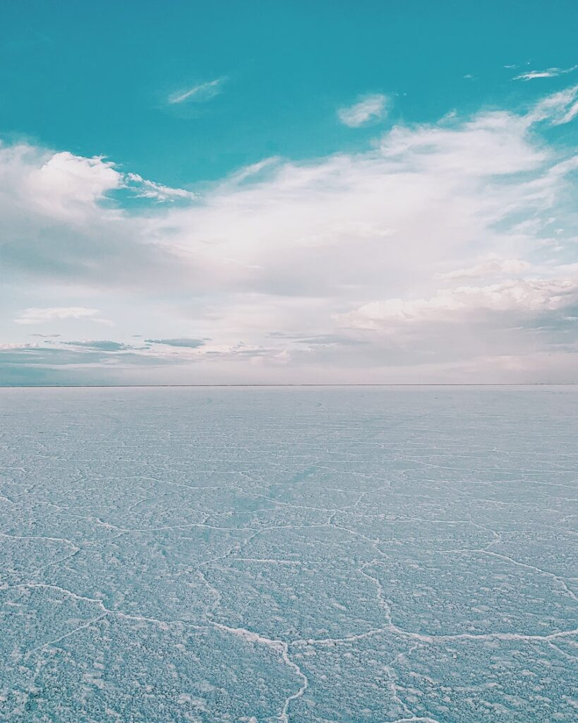 Endless stretch of white sand