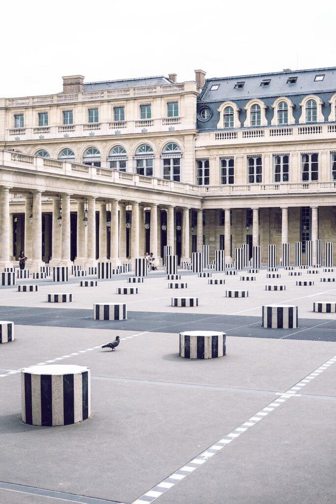 The Jardin du Palais Royal, also known as Royal Garden, in the center of Paris.