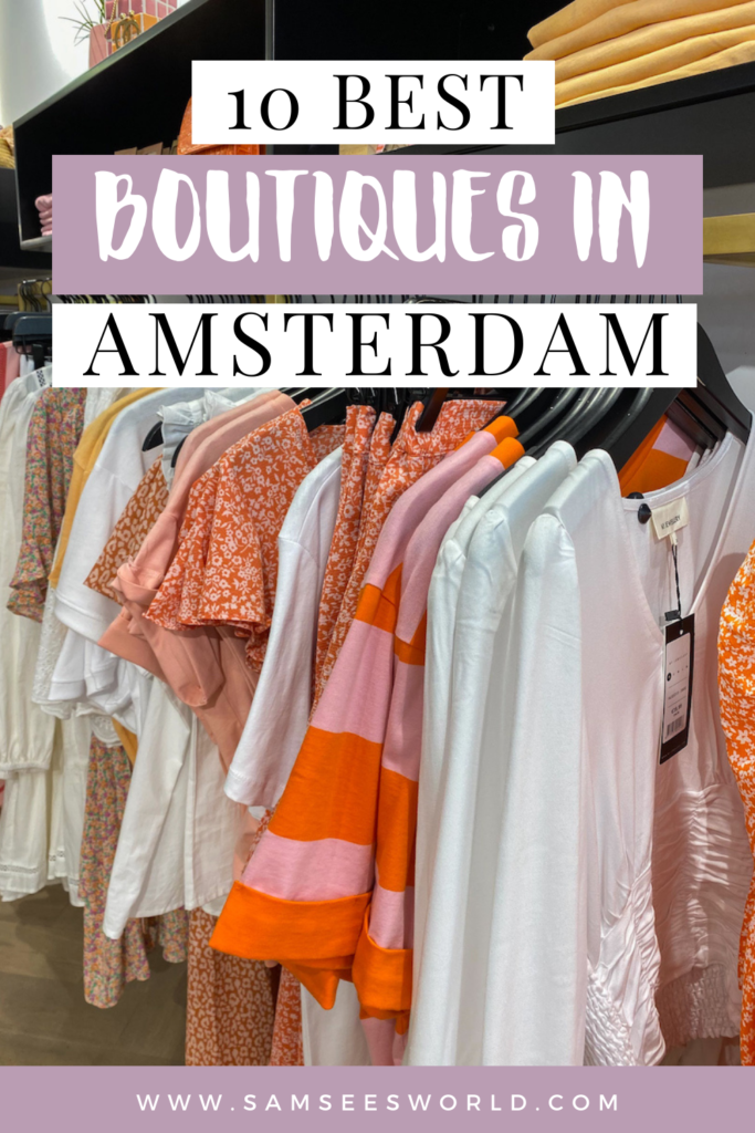 Best Boutiques in Amsterdam pin