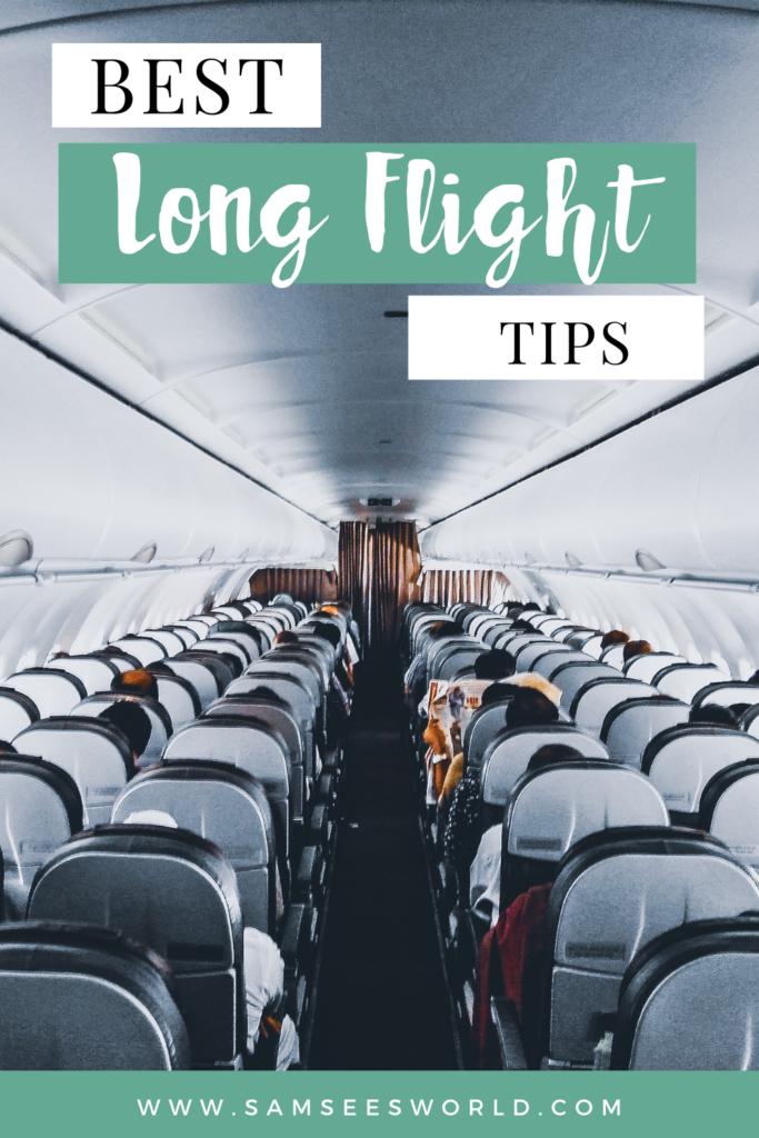 Best Long Haul Flight Tips pin