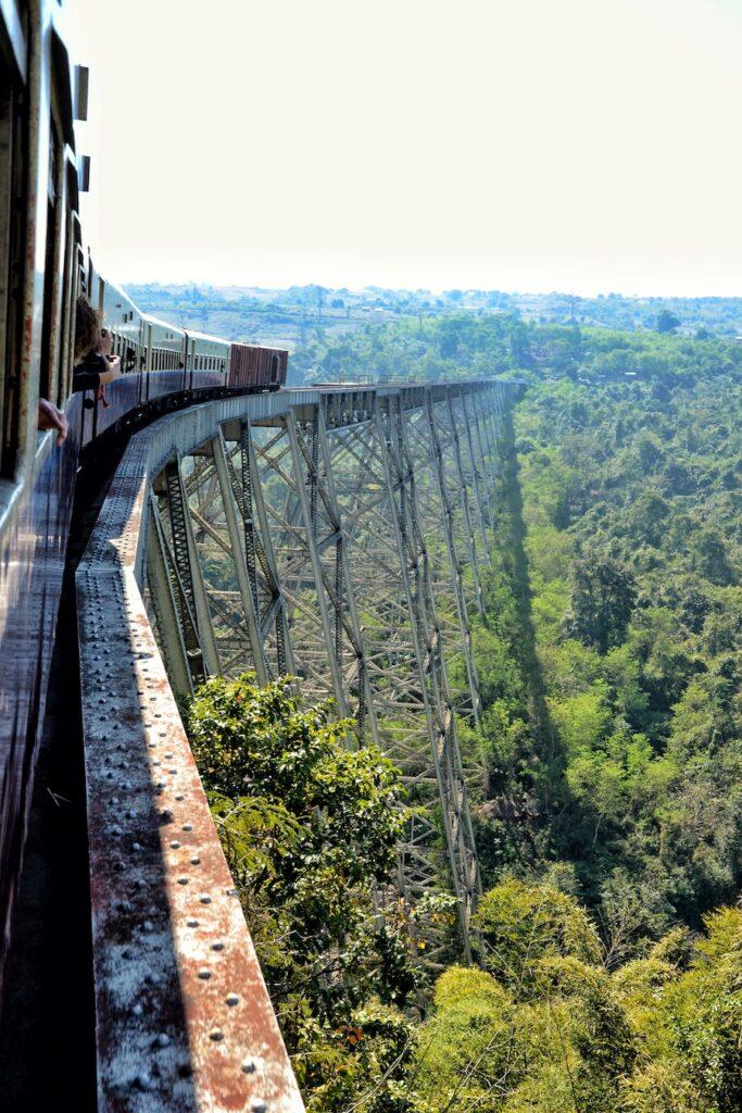 Train in Myanmar