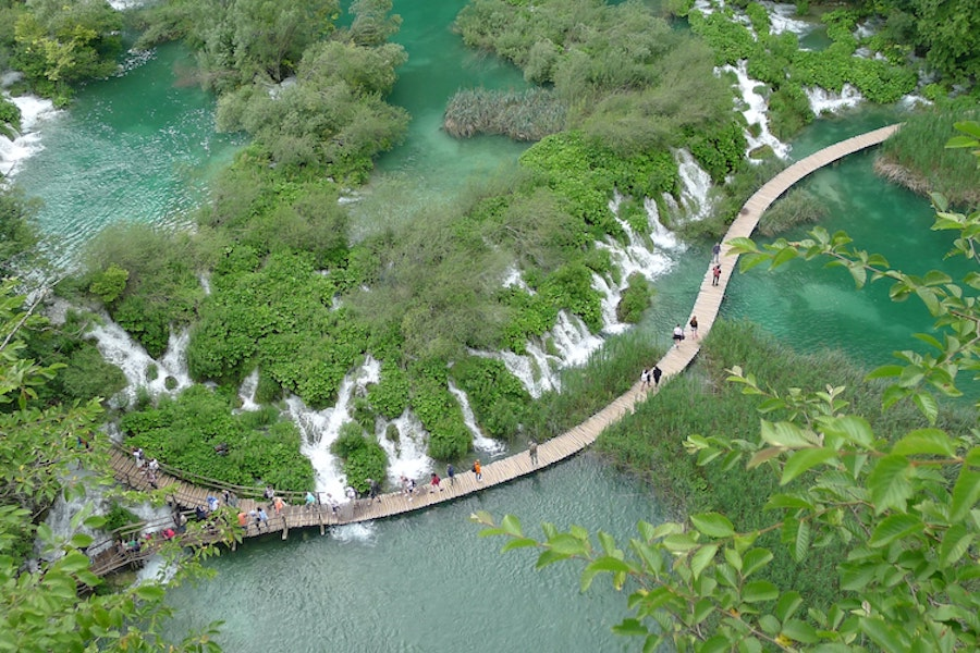 Aerial view of Plitvice