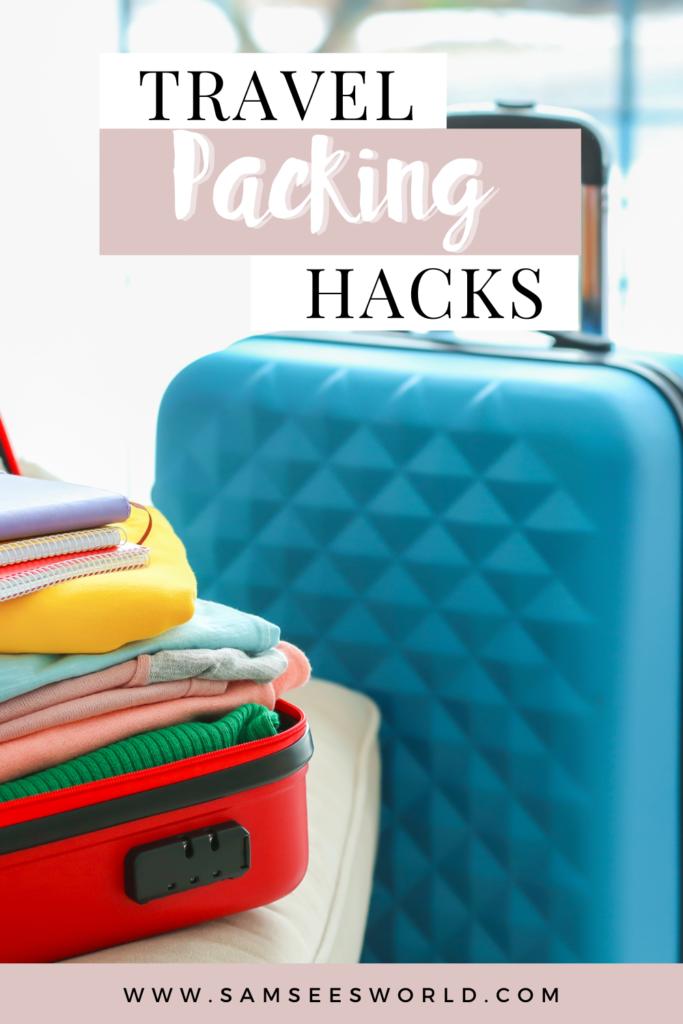 Travel Packing Hacks pin