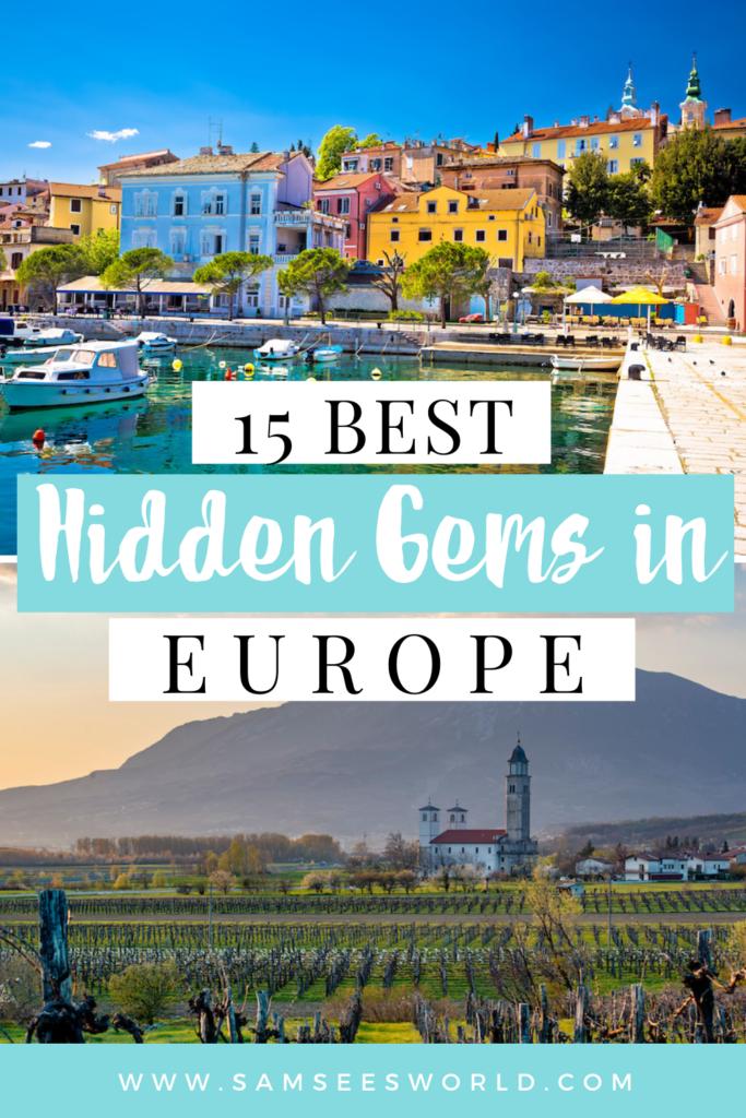 15 hidden gems in Europe pin