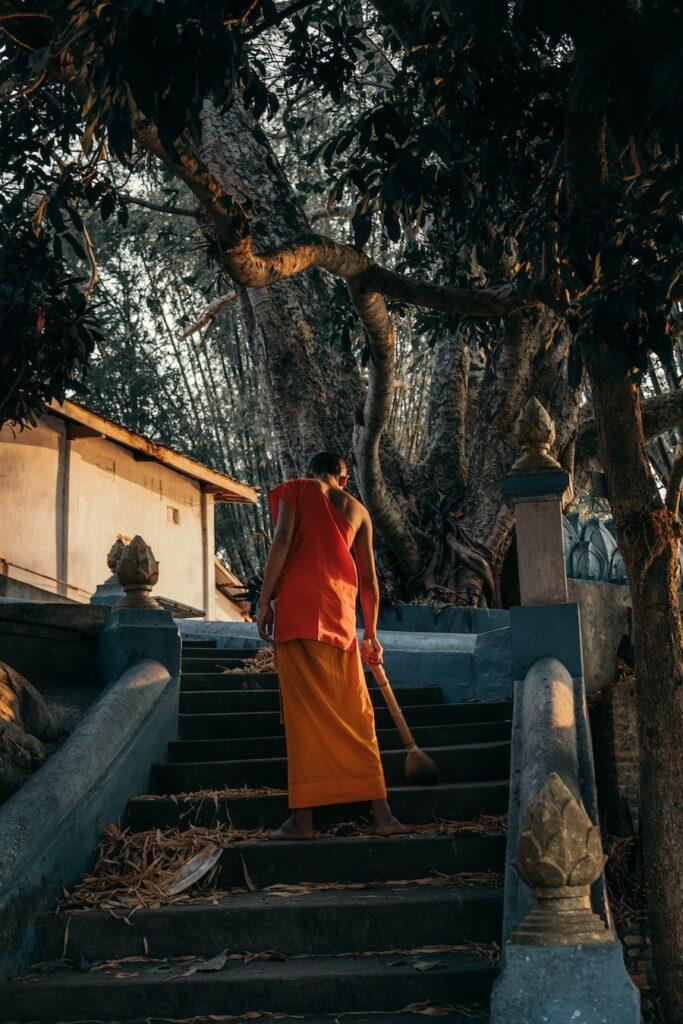 Munk in Laos