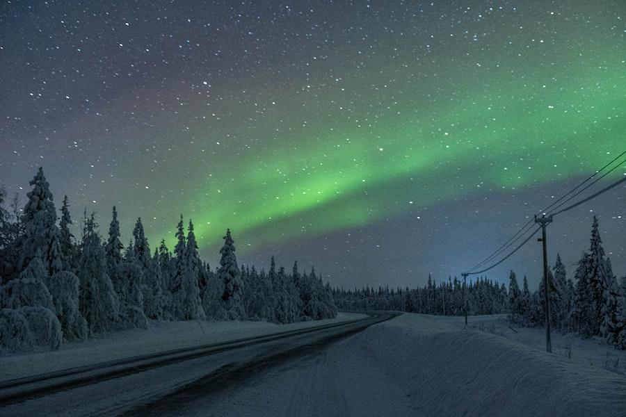 Jukkasjärvi, Sweden Northern Lights