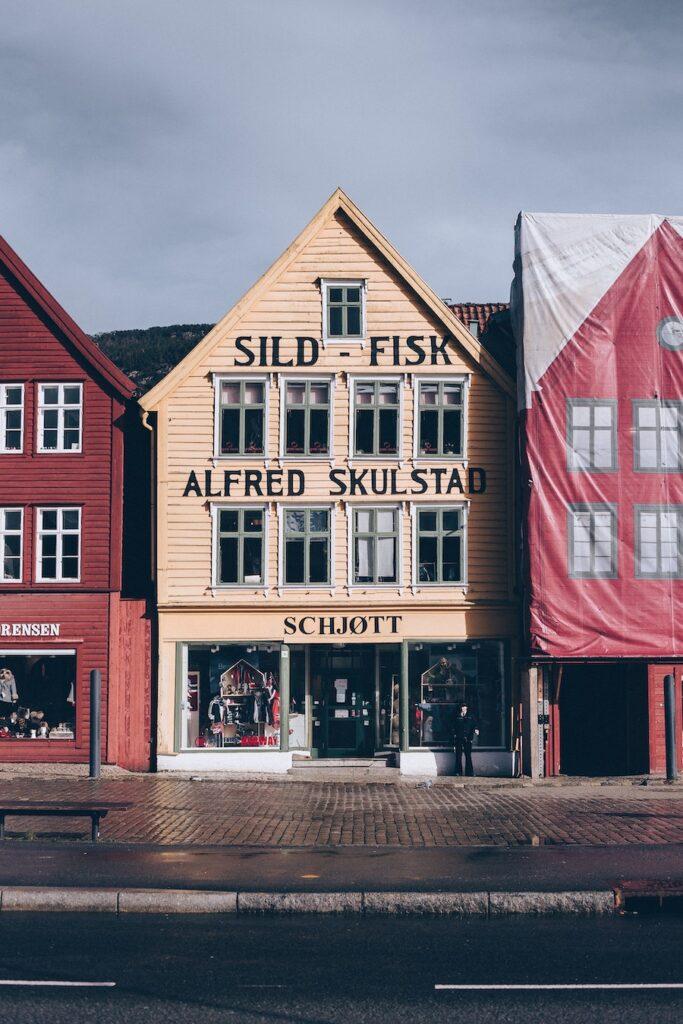 Buildings in Bryggen District