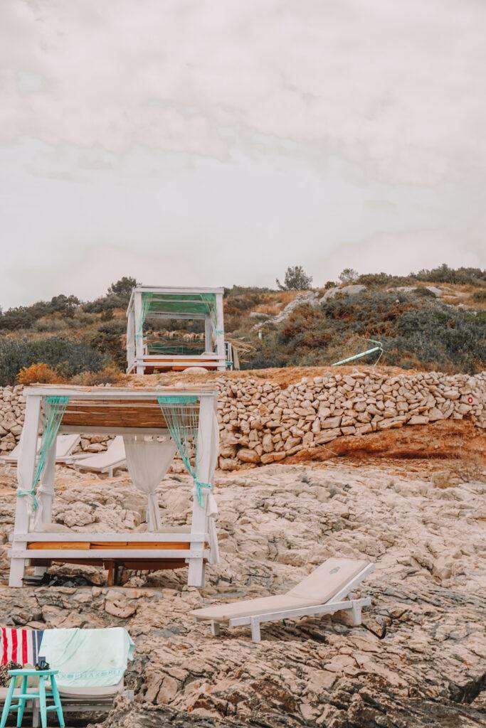 Rocky beach in Hvar