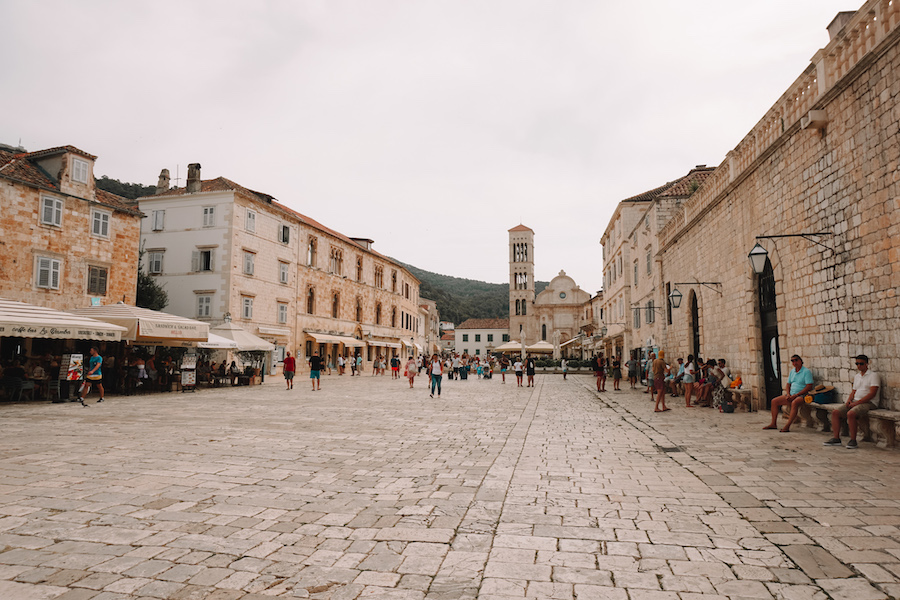 Old town square made on stone