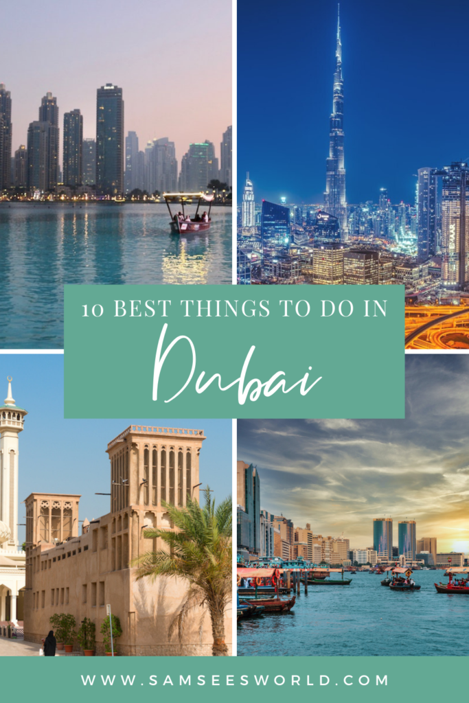 Best things to do in Dubai pin