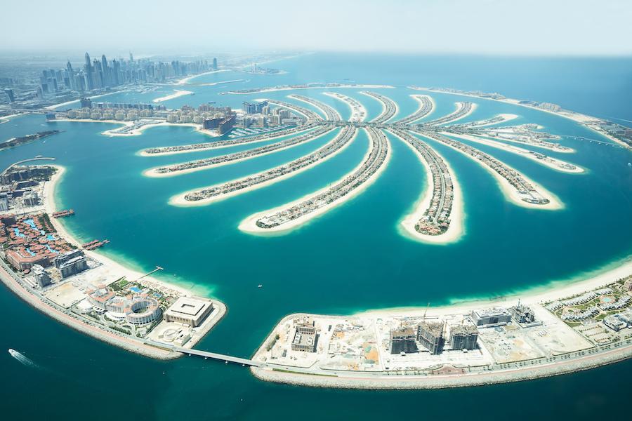 An Artificial Jumeirah Palm Island On Sea, Dubai, United Arab Emirates